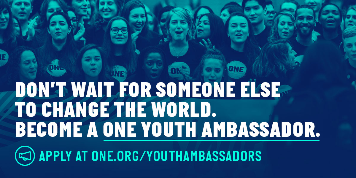 Apply to be a ONE Youth Ambassador!